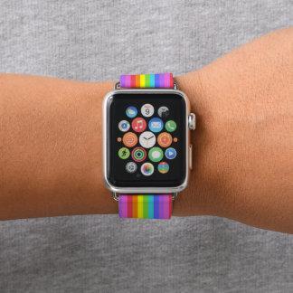 Regenbogen-Streifen Apple Watch Armband