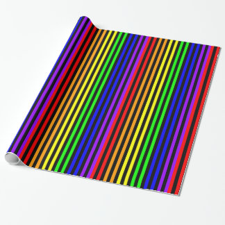 Regenbogen Striped Einpackpapier
