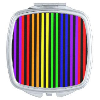 Regenbogen Striped Schminkspiegel