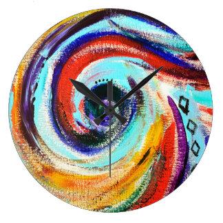 Regenbogen-Strudel-Uhr Große Wanduhr