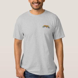 Regenbogen TAU gestickt Besticktes T-Shirt