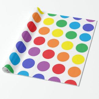 Regenbogen-Tupfen-Packpapier Geschenkpapier