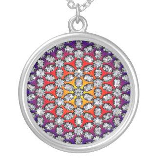Regenbogen-u. Diamant-Schönheit Versilberte Kette