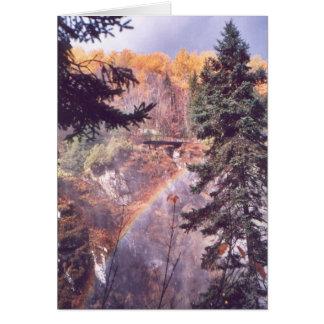 """Regenbogen über den Fällen "" Karte"