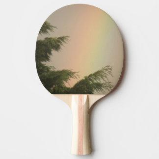 Regenbogen und Baum-Klingeln Pong Paddel Tischtennis Schläger