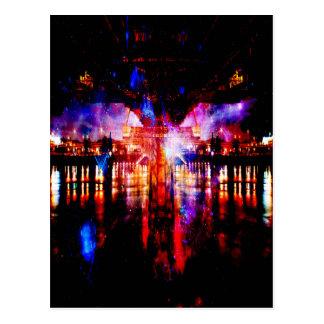Regenbogen-Universum-Brücke Postkarte