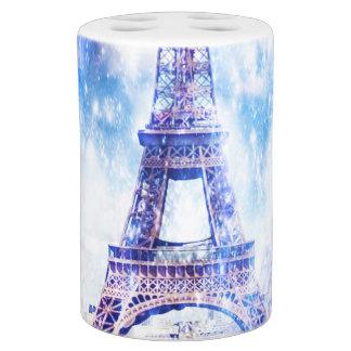 Regenbogen-Universum Paris Seifenspender & Zahnbürstenhalter