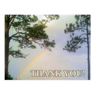 Regenbogen von Dankbarkeit Postkarte