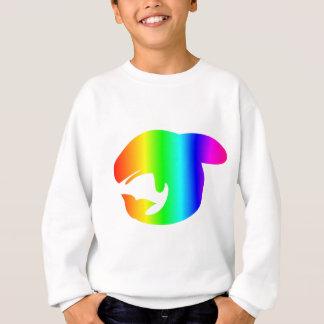 Regenbogen-Wal Sweatshirt