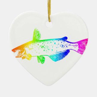 Regenbogen-Wels Keramik Ornament