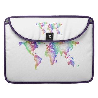 Regenbogen-Weltkarte Sleeve Für MacBook Pro