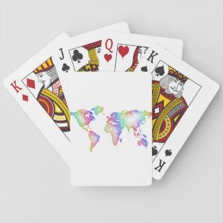Regenbogen-Weltkarte Spielkarten