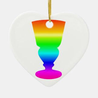 Regenbogen-Wermut-Glas Keramik Ornament