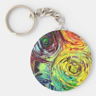 Regenbogen windt sich abstrakte Malerei Schlüsselanhänger