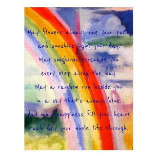 Regenbogen wünscht (Alternative 3) Postkarte