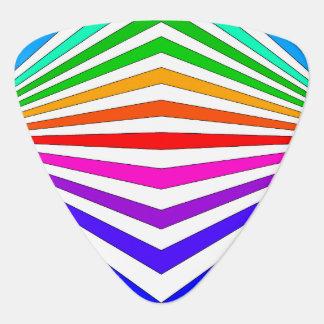 Regenbogen Zickzack Colorbands Plektrum