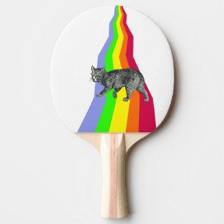 Regenbogen zu den Himmels-Katzen Tischtennis Schläger