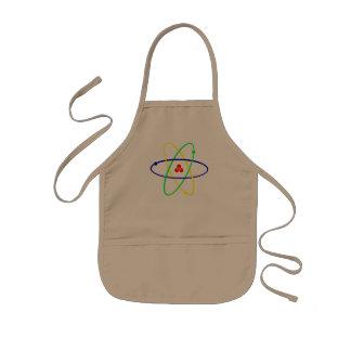 Regenbogenatommodell-Shirt - Atome sind cool! Kinderschürze