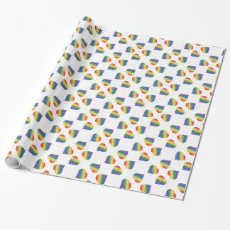 Regenbogenherz kaleidescope Packpapier Geschenkpapierrolle