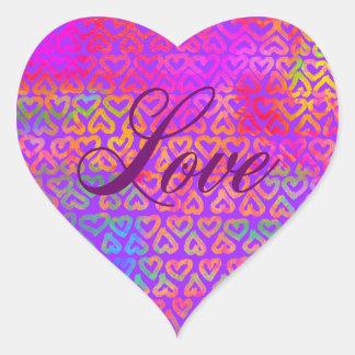 Regenbogenherz-Liebe Herz-Aufkleber