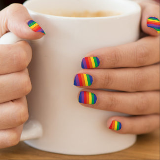 Regenbogennagelabdeckungen Minx Nagelkunst