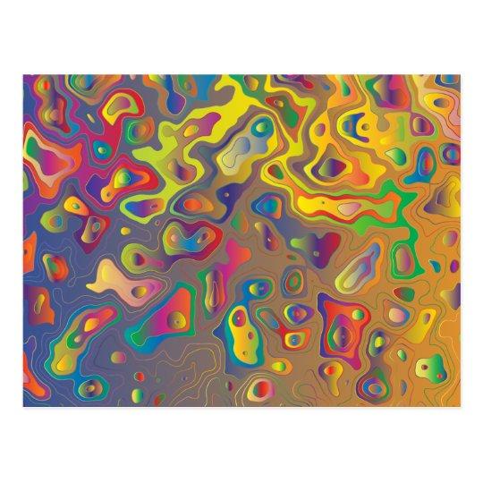 Regenbogenprismawasser lässt Postkarte fallen