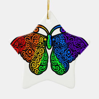 Regenbogenschmetterling Keramik Ornament