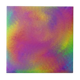 Regenbogenstrudel Kleine Quadratische Fliese