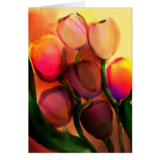 Regenbogentulpe-Grußkarte Grußkarte