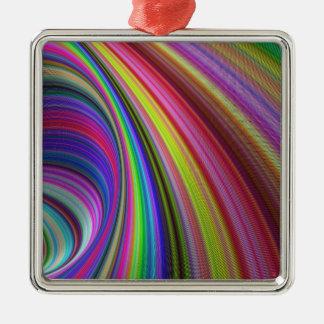 Regenbogenturbulenz Silbernes Ornament