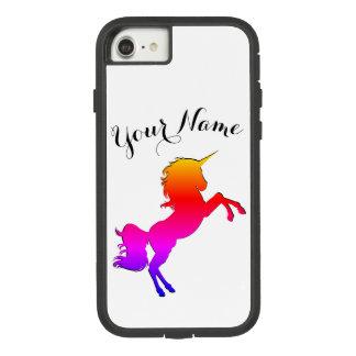 RegenbogenUnicorn mit personalisiertem Namen Case-Mate Tough Extreme iPhone 7 Hülle 1