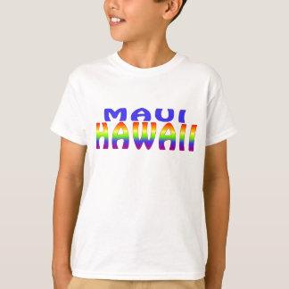 Regenbogenwörter Mauis Hawaii T-Shirt