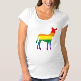 RegenbogenZebra Schwangerschafts T-Shirt