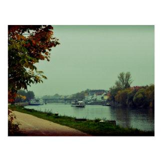 Regensburg Donau Postkarte