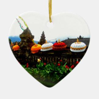 Regenschirm-Bali-Spritzen-Vorlage Keramik Herz-Ornament