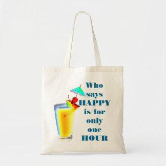 Regenschirm-Getränk-glückliche Stunden-Spaß Tragetasche