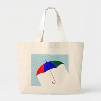 Regenschirm im Regen Jumbo Stoffbeutel