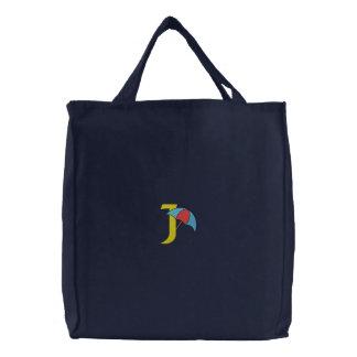 Regenschirm-Monogramm gestickte Tasche des
