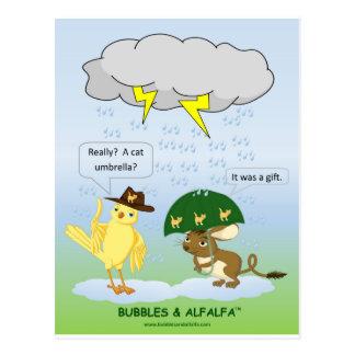 Regenschirm-Postkarte Postkarte