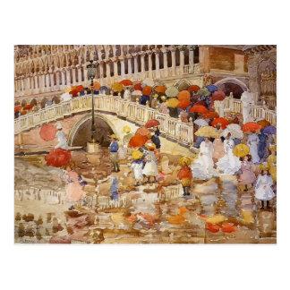 Regenschirme Maurice Prendergast- im Regen Postkarte