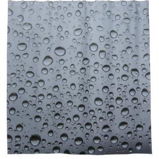 Regentropfen auf Fensterscheibe Duschvorhang