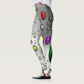 Regentropfen mit Farbe Leggings