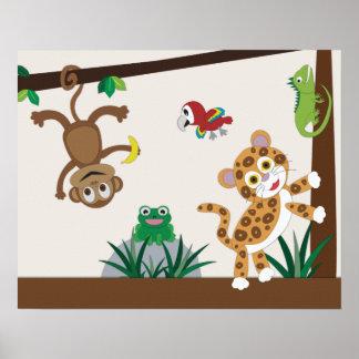 Regenwald-Dschungel-Kinderzimmer-Plakat