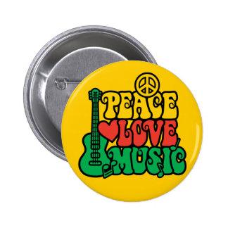 Reggae-FriedensLiebe-Musik Runder Button 5,7 Cm