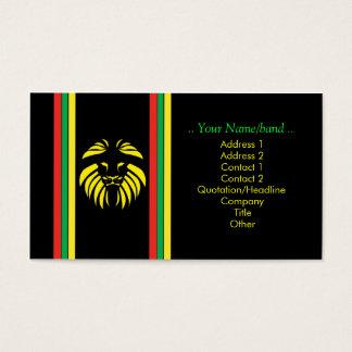 Reggae-Löwe B/Card Visitenkarte