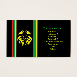 Reggae-Löwe B/Card Visitenkarten