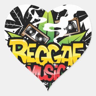 Reggae-Musik Herz Sticker