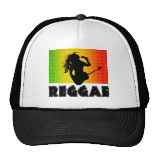 Reggae-Musik Rastaman Gitarre Rasta Hüte Retrokult Cap