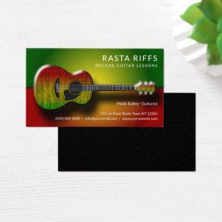 Reggae Rasta Riff-Gitarren-Lektions-Musik-Lehrer Visitenkarte