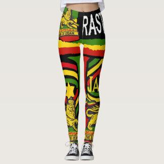 Reggaesteppers-Gamaschen Rastafarian Entwürfe Leggings